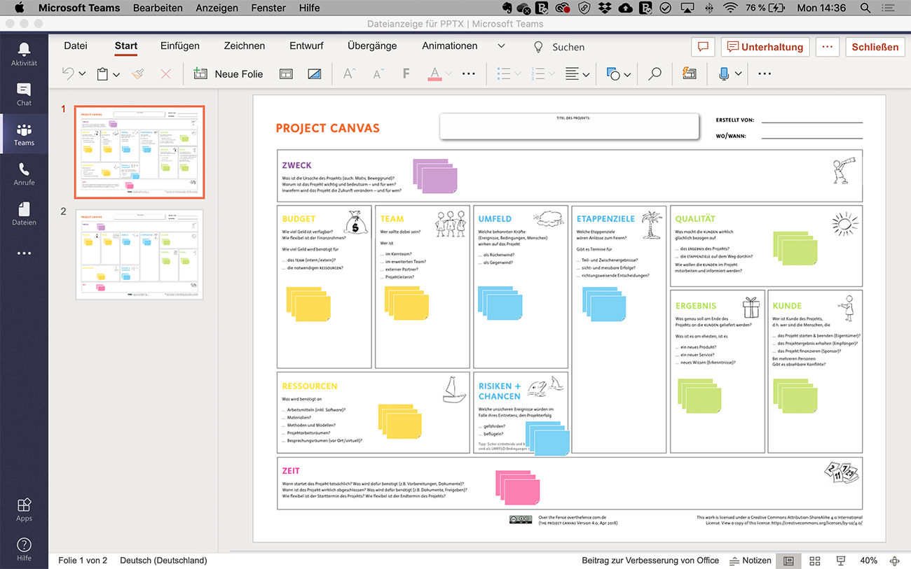 Project Canvas in Teams